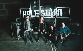 Картинка hard rock, Halestorm, Lzzy Hale, Joe Hottinger, Arejay Hale, Josh Smith, Into the Wild Life