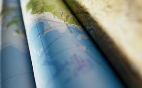 Обои минимализм, свёрток, карта