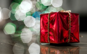 Картинка коробка, подарок, боке, упаковка, сюрприз