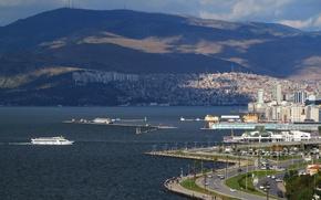 Картинка city, Turkey, ship, Izmir, Konak