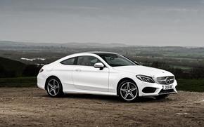 Обои белый, Mercedes-Benz, мерседес, AMG, Coupe, C-Class, C205