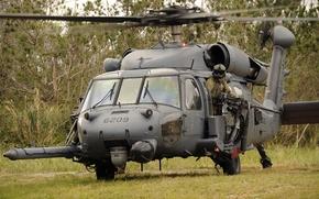 Картинка маска, солдат, взлет, Air Force, helicopter, HH-60G, Pave Hawk
