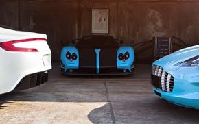 Картинка supercars, Pagani Zonda, Aston Martin one-77
