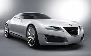 Обои белый, коецепт-кар, Aero-X, Saab