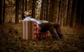 Картинка очнулся, photographer, Florent Bellurot, присел, уснул, лес