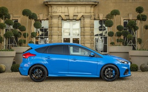 Картинка Ford, Голубой, Focus, Автомобиль, 2016, Металлик, RS, Сбок