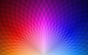 Картинка радуга, спектр, ячейки
