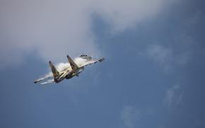Картинка небо, самолёт, пилотаж