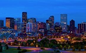 Картинка Колорадо, панорама, США, Америка, skyline, Denver, Usa, Colorado, Денвер