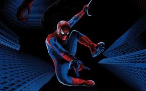 Картинка The Amazing Spider-Man, Andrew Garfield, Новый Человек-паук, Эндрю Гарфилд, супергерой, паутина, Ящер, костюм