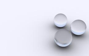 Обои круги, шары, серый, фон