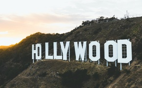 Картинка Hollywood, USA, United States, sign, Los Angeles, California, mountain, hill, America, United States of Ameica