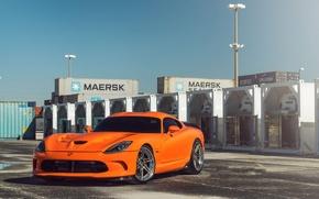Картинка Dodge, Orange, Viper, SRT, Track, Spec, ADV06