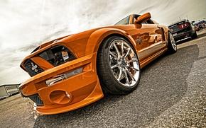 Обои supercar, gold, hdr, Mustang, Cobra