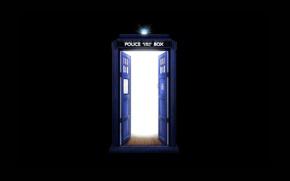 Картинка будка, черный фон, Doctor Who, Доктор Кто, ТАРДИС, TARDIS