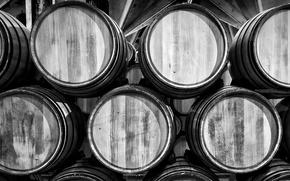 Обои barrels, cellar, wooden