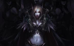 Картинка Арт, chenbo, world of warcraft, эльф, сильвана, эльфийка, девушки