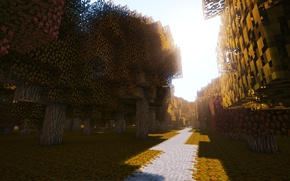 Картинка wallpaper, game, autumn, Minecraft
