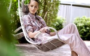 Картинка chair, sitting, girl. model, Marinet Matthee