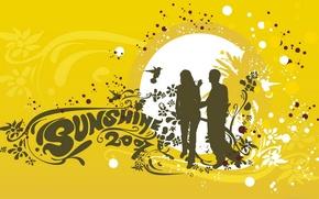 Картинка желтый, люди, вектор, sunshine