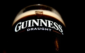 Обои макро, пиво, темное, guinness, beer, draught