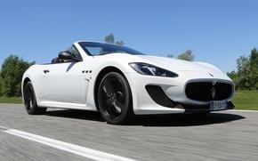 Картинка дорога, Maserati, GranCabrio