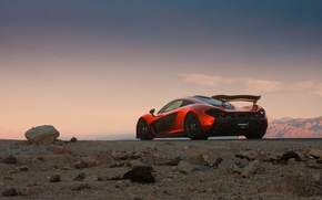 Картинка McLaren, Orange, Death, Sand, Supercar, Valley, Spoiler, Hypercar, Exotic, Rear, Volcano, Extra, Terrestrial