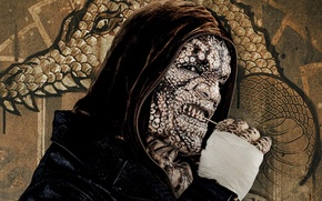 Картинка cinema, wall, graffiti, power, man, movie, leather, face, animal, dragon, bad, assassin, hero, killer, film, …