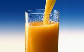 Обои сок, стакан, апельсин, juice, Orange