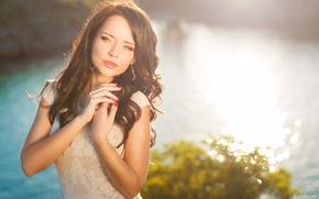 Картинка девушка, радость, милая, нежность, брюнетка, красивая, прелесть, beauty, украинка, Ангелина Петрова