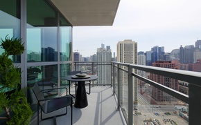 Обои дизайн, дом, стиль, интерьер, балкон, мегаполис