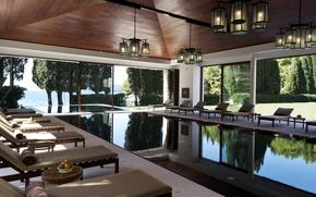 Картинка дизайн, пространство, стиль, вилла, интерьер, бассейн