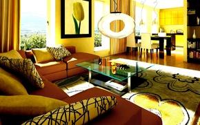 Картинка design, living room, interior, home, high, contrast
