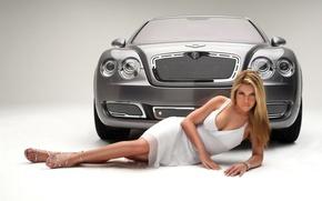 Картинка авто, Bentley, девушка