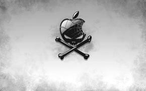 Обои Apple, Череп, Веселый Роджер, Пиратство