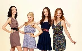 Обои сериал, Балерины, Bunheads, Bailey De Young, Emma Dumont, Kaitlyn Jenkins, Julia Goldani Telles