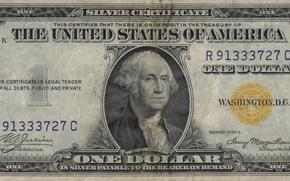 Картинка yellow, Dollar, Washington, series, united states, one, united, demand