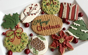 Картинка настроение, праздник, новый год, печенье, сладости, Christmas, New Year, угощение