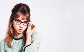 Картинка ретро, фотосессия, бренд, Zoe Kazan, Warby Parker