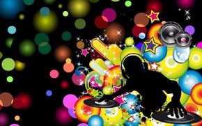 Картинка звезды, абстракция, Музыка, music, dinamic