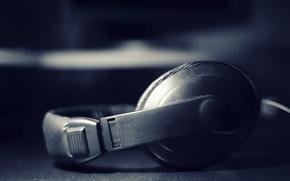 Обои звук, песня, слушать, музыка, наушники, слух