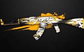 Картинка граффити, череп, ak-47, раскрас, workshop, cs go, creep, custom paint job