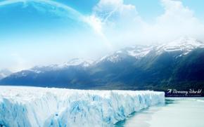 Обои горы, Dreamy World, лед