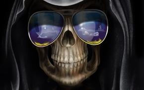 Картинка смерть, Череп, очки