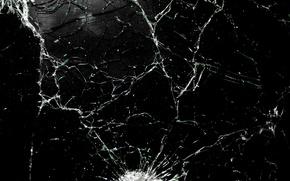 Картинка текстура, выстрел, пули, стекла, разбитого