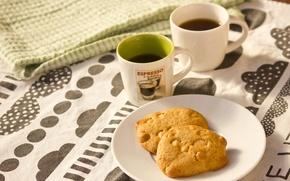 Картинка vanilla coffee, white choc chips, cookies with pistachios
