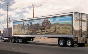 Картинка грузовик, тягач, 1956, Kenworth