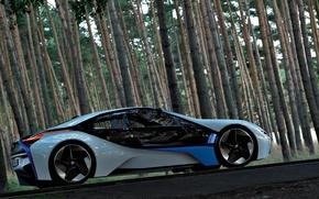 Обои лес, BMW, концепт