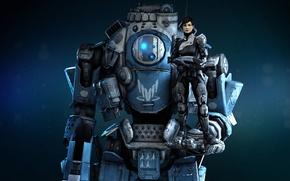 Картинка робот, robot, Шепард, Mass effect, альянс, Титан, Titanfall