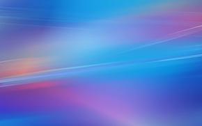 Картинка небо, линии, синий, голубой, обои, заставка